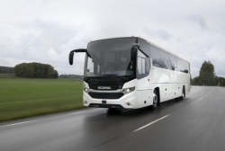 Scania-Reisebus mit alternativem Kraftstoff